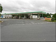 SJ7760 : Fuel Forecourt, Sandbach Services, Southbound M6 by David Dixon