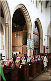 TL8866 : Holy Innocents, Great Barton - Organ by John Salmon