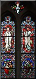 TL8866 : Holy Innocents, Great Barton - Stained glass window by John Salmon