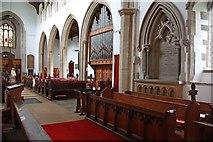 TL8866 : Holy Innocents, Great Barton - Interior by John Salmon