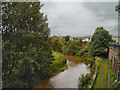 SO5013 : River Monnow (Afon Mynwy), Monmouth by David Dixon