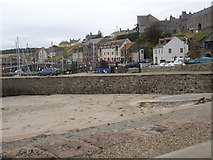 NJ6864 : Looking south from the North Pier in Banff Harbour by Stanley Howe