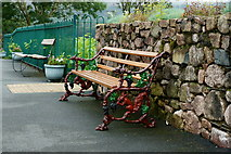 NY1700 : Bench at Dalegarth Station by Peter Trimming