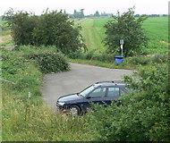 TF3839 : Cut End Road car park by Mat Fascione