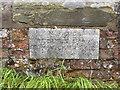 SK7851 : Date stone, Devon Bridge by Alan Murray-Rust