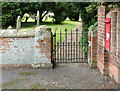 SK7851 : Hawton Churchyard gate  by Alan Murray-Rust