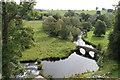SK2366 : Footbridge over the River Wye by J.Hannan-Briggs