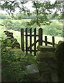 SE0126 : Stile and gate on Hebden Royd FP32 by Humphrey Bolton