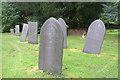 SK3706 : Slate Gravestones, St Peter's Church, Shackerstone, Leicestershire by Christine Matthews