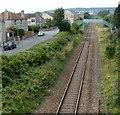 ST3260 : Exeter Road railway footbridge, Weston-super-Mare by Jaggery