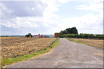 TL1435 : Farm Track near the Water Tower on Stondon Road by Mick Malpass