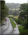 SK2381 : B6001 leaving Hathersage to the south by Andrew Hill