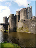 ST1587 : Caerphilly Castle and Moat by David Dixon