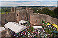 SO5074 : Ludlow Castle - Inner Bailey  by Ian Capper