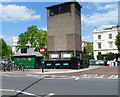 TQ2682 : Ventilation tower and a cabmen's shelter, Warwick Avenue, London W9 by Jaggery
