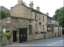 SE1321 : Rastrick - houses on Jumble Dyke by Dave Bevis