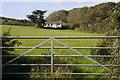 SW4128 : Boswarthen from the field gate by Elizabeth Scott