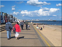 TM5176 : Strolling on the promenade in Southwold by Rod Allday