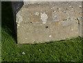 SK7851 : Bench mark, Hawton Church by Alan Murray-Rust