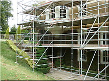 TQ1352 : Repairs to the west wing of Polesden Lacey by Dave Spicer