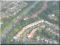 SJ8587 : West of Cheadle from the air by M J Richardson