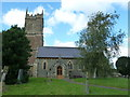 ST6258 : St Augustine of Hippo, Clutton: churchyard (C) by Basher Eyre