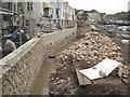 SX9372 : Flood wall under construction near the Ship Inn by Robin Stott
