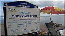 SX9265 : Welcome to Oddicombe Beach by Steven Haslington