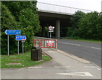 TA0225 : Road under the north end of the Humber Bridge by Mat Fascione