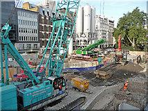 TQ2881 : Crossrail construction, Tenterden Street (2) by Stephen Richards