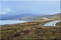 NH3172 : A835 alongside Loch Glascarnoch by Jim Barton