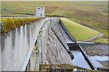 NH3470 : Glascarnoch dam from the south by Jim Barton