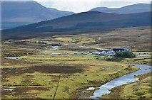 NH3470 : Aultguish Inn from the Glascarnoch dam by Jim Barton