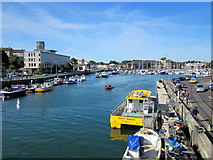 SY6778 : Weymouth Harbour From Town Bridge by Roy Hughes