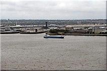 SJ3290 : Cargo Vessel, Doris T., River Mersey by El Pollock