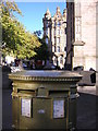 NT2573 : Edinburgh: golden postbox, Hunter Square by Christopher Hilton