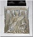 TL3655 : St Andrew, Toft - Corbel by John Salmon