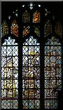 TL3949 : All Saints, Barrington - Stained glass window by John Salmon