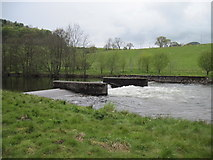 NY4724 : Weir  on  the  River  Eamont by Martin Dawes
