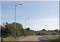 SO9053 : Roundabout at The Crossroads from A4385 by John Firth