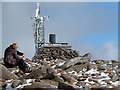 NJ0004 : The radio relay station and weather station on Cairn Gorm by Walter Baxter