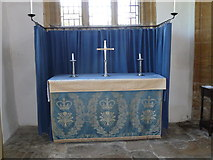 ST6601 : St Mary, Cerne Abbas: side altar by Basher Eyre