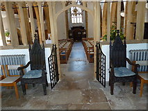 ST6601 : St Mary, Cerne Abbas: side aisle by Basher Eyre