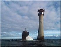 SX3833 : Eddystone lighthouse by Steve  Fareham