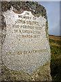 NN9861 : John Souter memorial stone inscription, Badyo by Karl and Ali