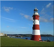 SX4753 : Smeaton's tower bathes in late evening sunshine by Steve  Fareham
