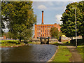 SJ8599 : Rochdale Canal and Victoria Mill by David Dixon