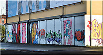J3474 : Mural, Corporation Street, Belfast (1) by Albert Bridge