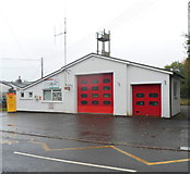 SN8746 : Front view of Llanwrtyd Wells Fire Station by Jaggery