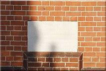 SU7682 : Church Hall Foundation Stone by Bill Nicholls